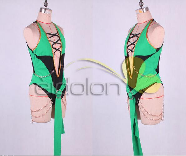 2016 Game Anime Mortal Kombat 9 Jade Cosplay Costume