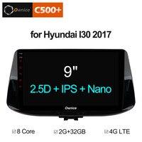 Ownice C500 + G10 Octa Core Android 8,1 2G RAM dvd плеер gps Навигация головного устройства для hyundai I30 2017 2018 Авторадио 4G DAB