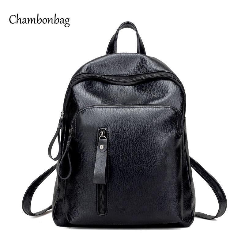 Hot Women Black Backpack Bag Female Fashion Ladies Office Work Bags Stylish  Backpacks For Teenage Girls mochilas femininas N543 ebe1483713c29
