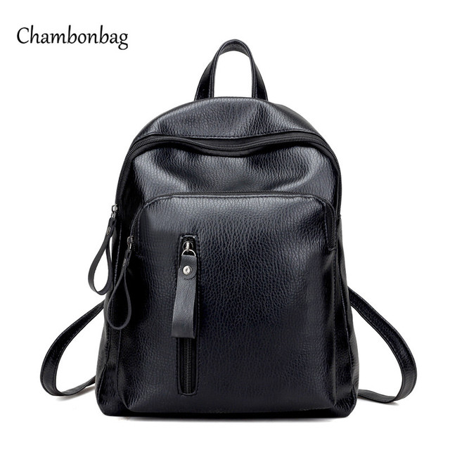 Aliexpress.com : Buy Hot Women Black Backpack Bag Female Fashion ...