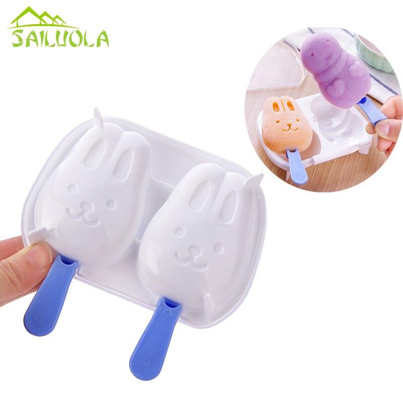 Forma Coelho Dos Desenhos Animados Diy Picole Ice Cream Mold Cubo