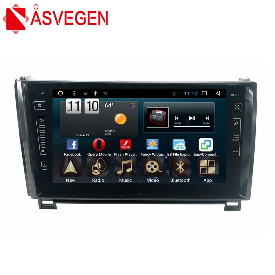 Asvegen 10.2 inch 2din Android 6.0 Quad Core Car Multimedia Player GPS Navigation Auto Radio For Toyota Tundra Sequoia 2011 2015