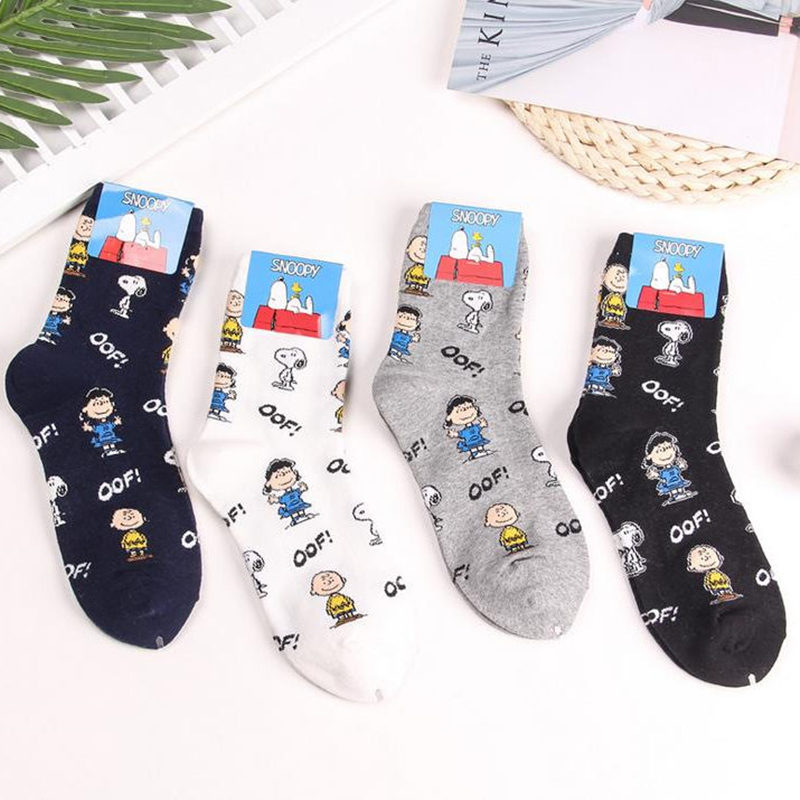 IOLPR high quality Harajuku Snoopy Women   socks   Cotton Pattern funny   Socks   Comfortable cute Creative   socks   art   Socks   calcetines