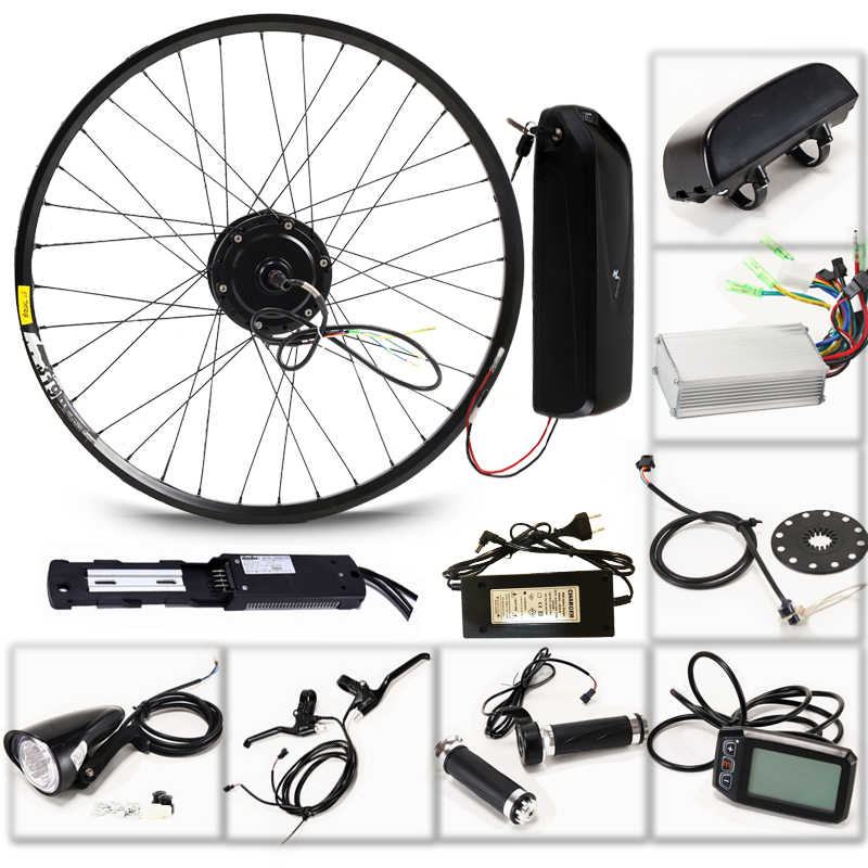 "LOVAGE Electric bicycle 36V 350W kit for 26"" 27.5"" 29"" inch wheel motor kettle battery LED LCD electric car Ebike"