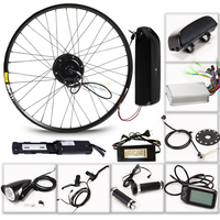 LOVAGE Electric bicycle 36V 350W kit for 26 27.5 29 inch wheel motor kettle battery LED LCD electric car Ebike