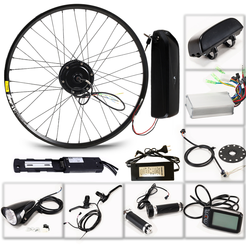 LOVAGE Electric bicycle 36V 350W kit for 26 27 5 29 inch wheel motor kettle battery