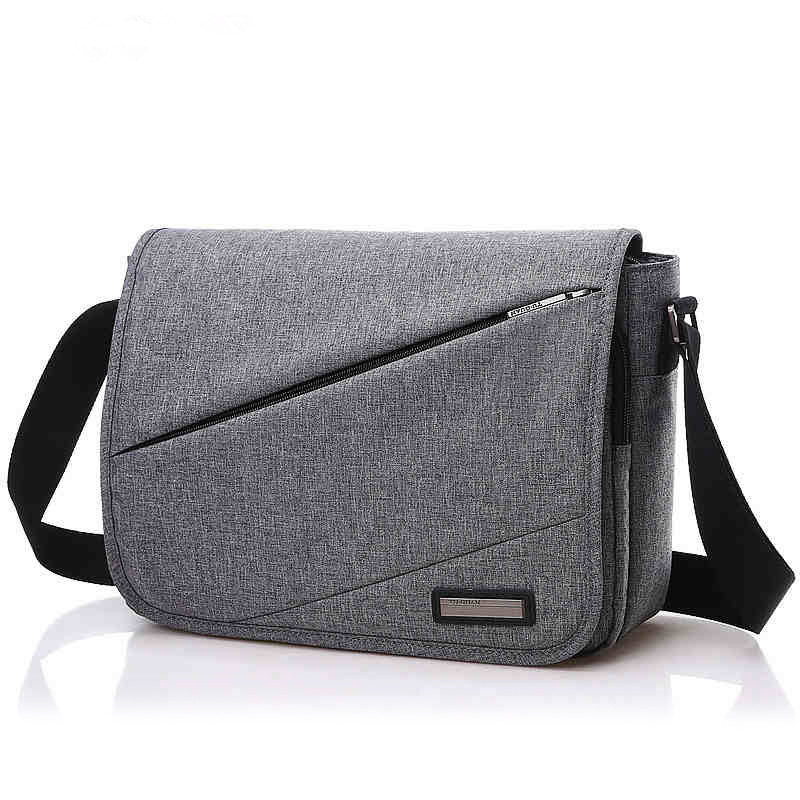 Brand Fashion Casual Menn Skuldertasker til Male Daily Square Satchel Travel Høy kvalitet Crossbody Vesker til Gutt