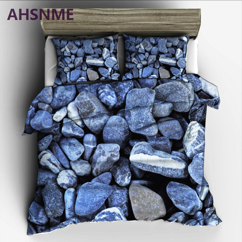 AHSNME Summer cool natural stone pattern Bedding Set High definition Print Quilt Cover for RU AU EU King Queen Double Size