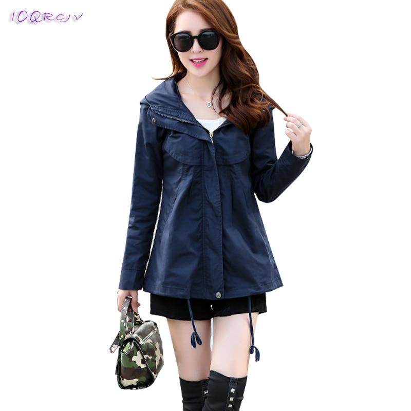 2018 spring autumn female trench coat women short thin fashion slim women coat plus size Casual women's windbreaker IOQRCJV T280