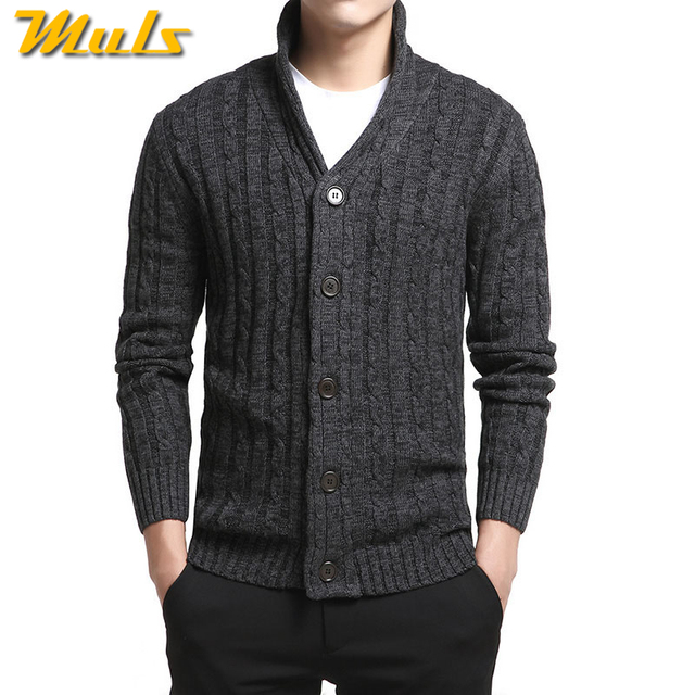 Mens Sweater Cardigan Males Twist Style Cardigan Clothings Fashion Thick  Warm Colored Wool Sweaters Men Plus Size 4XL MuLS Brand bd9f3164133d