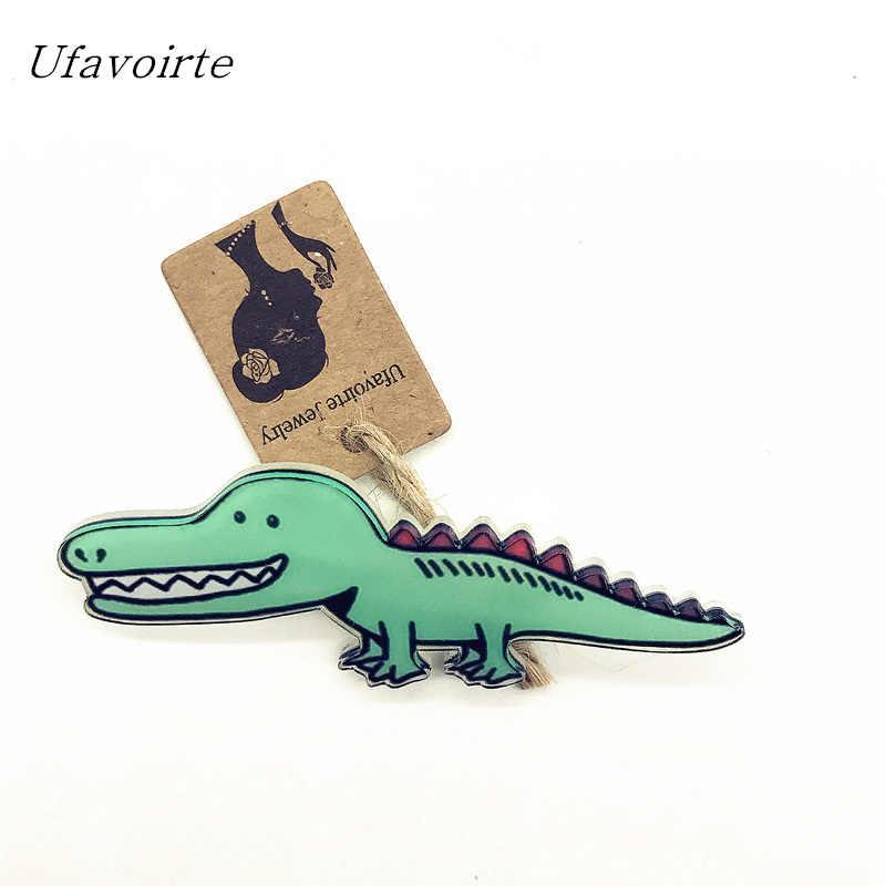 Ufavoirte Crocodile cerf chiot chiens conception de mode femmes accessoires broches broches pour femmes veste col Badge