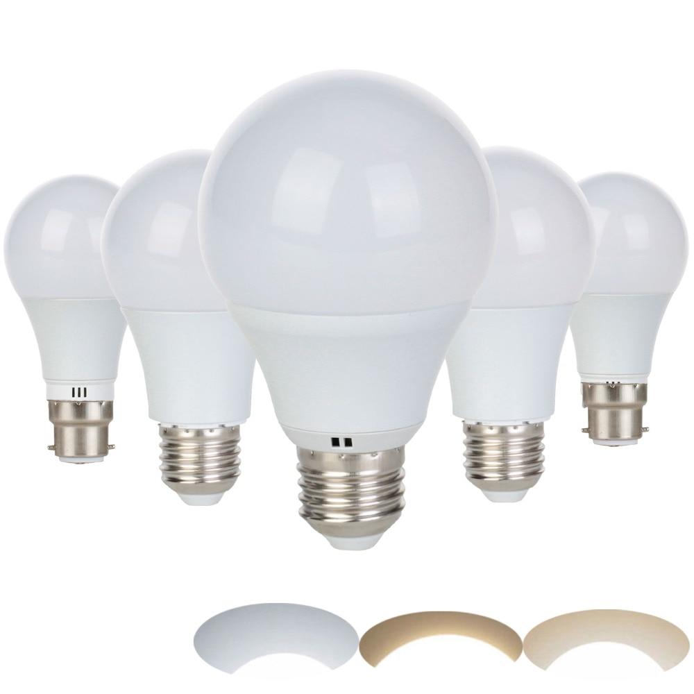 LED Bulb E27 3W 5W 7W 9W B22 Bayonet 220V 230V Smart IC LED Light Cold/Neutral/Warm White Lampada Ampoule Bombilla Lamp
