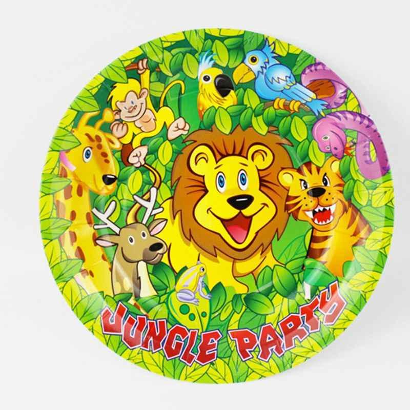 Jungle Lion king theme Party ทิ้งมีดช้อนส้อม baby shower birthday party อุปกรณ์ตกแต่ง