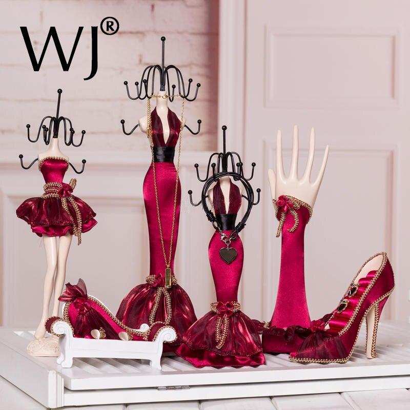 Haut de gamme Modèle Princesse Mariage Bijoux Présentoir Porte Boucles D'oreilles Anneau Collier Cadeau Main Buste pour Magasin Décorer Vitrine