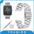 22mm Stainless Steel Band for Asus Zenwatch 1 2 LG G Watch W100 W110 Urbane W150 Pebble Time Bracelet Strap Black Gold Silver