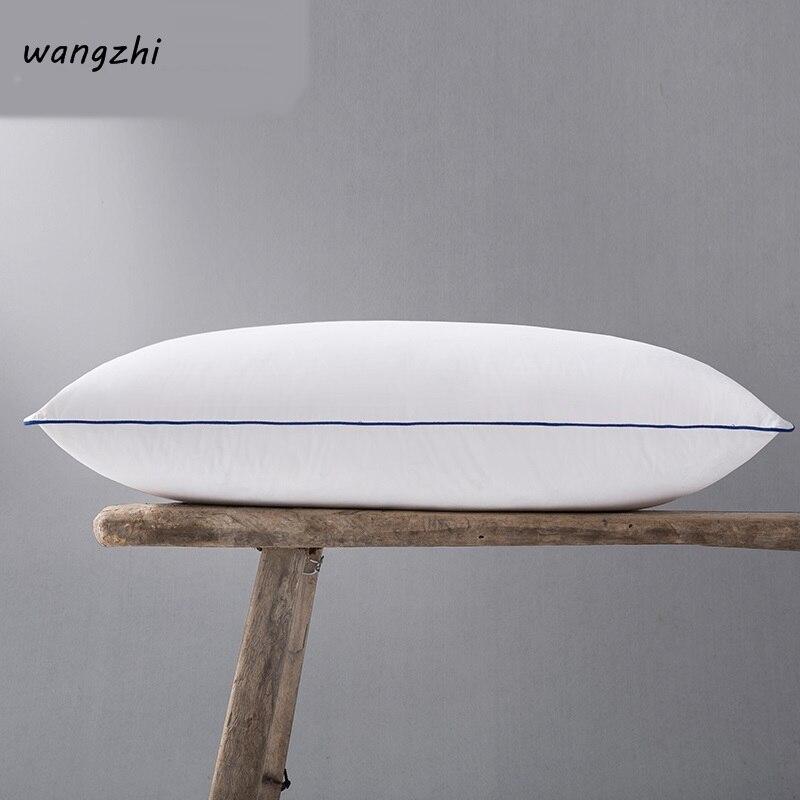 100% oreiller de literie de plume d'oie blanche/oreillers de sommeil de tête naturelle blanche de luxe matériel de remplissage Style européen livraison gratuite