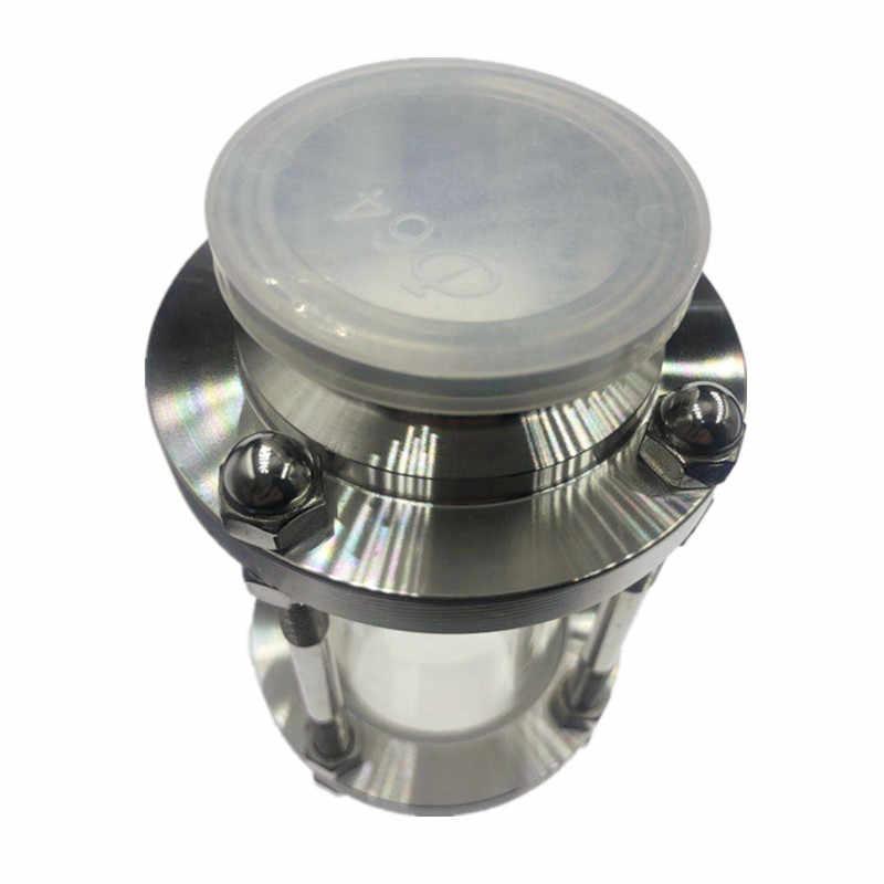 """WZJG جديد 2 """"ثلاثي المشبك نوع تدفق البصر الزجاج الديوبتر ل البيرة يوميات المنتج الفولاذ المقاوم للصدأ SS304 الطويق OD 64 مللي متر"""