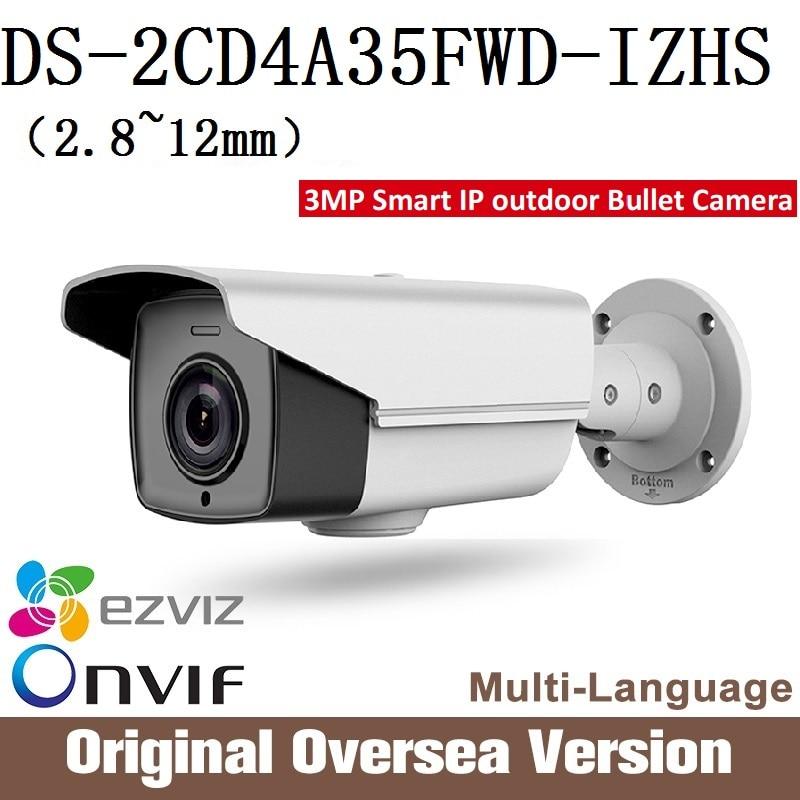 HIKVISION DS-2CD4A35FWD-IZHS smart Ip Camera Cctv Bullet 1080p Poe Ip67 EnglishVersion H265 alarm audioWDR Onvif RJ45 darkfight smart junior 2 cl cd