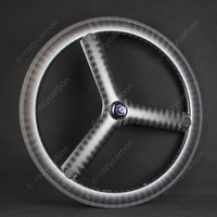 Wholesale OEM Carbon 3 Spokes Wheels Road/Track For Sale Cycling Road Carbon Bicycle