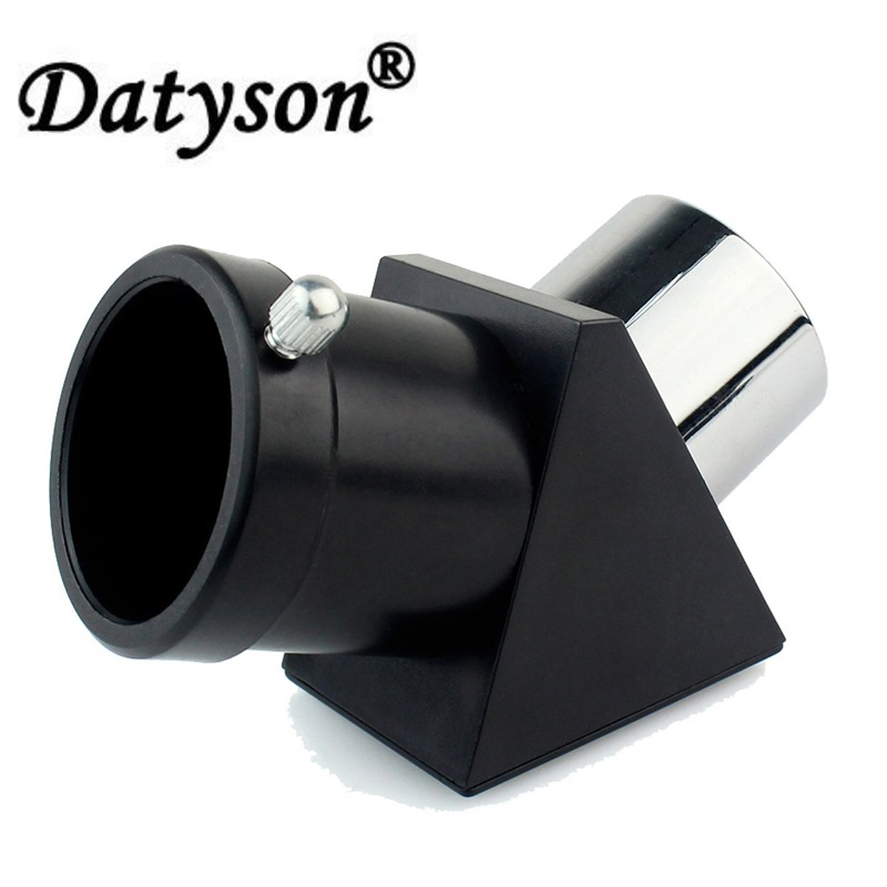Datyson 5P9996 Zenith Diagonal Mirror/Diagonal Adapter 1 25'' 45-Degree  Erecting Prism for Astronomical Telescope Eyepiece