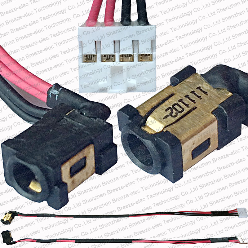 100% Genuine New Original Laptop AC DC Power Jack socket cable connector wire harness for Asus Eee Slate EP121 B121 Series 5 pin original new laptop ac dc power jack socket charging port adapter connector plug for asus for zenbook ux31e ux21e series