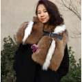 Real Natural Raccoon fur scarf shawl color shawls fashion warm real picture fur scaves