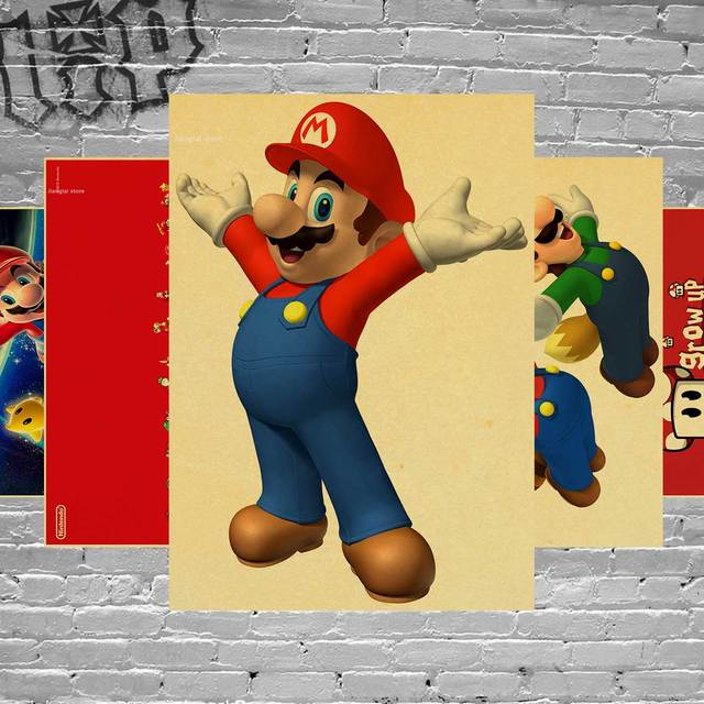 SUPER MARIO BROS Mario Classic Game Poster Home Furnishing ...