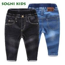 28dcfe1172 Bebé Chicas Chicos Demin Jeans Para Año Nuevo Otoño del Resorte Legging  Elástico Pantalones de Los