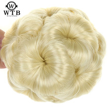 WTB цветы стиль булочка пончик клип в шиньон для наращивания женщин шиньон волос Синтетический Высокая температура волокна шиньон