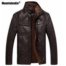 Leather Jacket Men Coats 5XL Brand High Quality PU Outerwear Men Business Winter Faux Fur Male Jacket Fleece EDA113