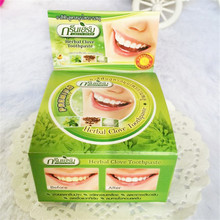 25g Thailand original herbal clove toothpaste anti-bacteria whitening remove smoke tea yellow stains plaque halitosis oral care