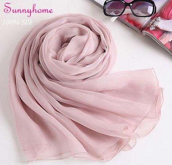 9b4bffbf21b 100% pur soie pashmina nude rose pourpre plaine viscose hijab nouvelle mode  foulards pour femme