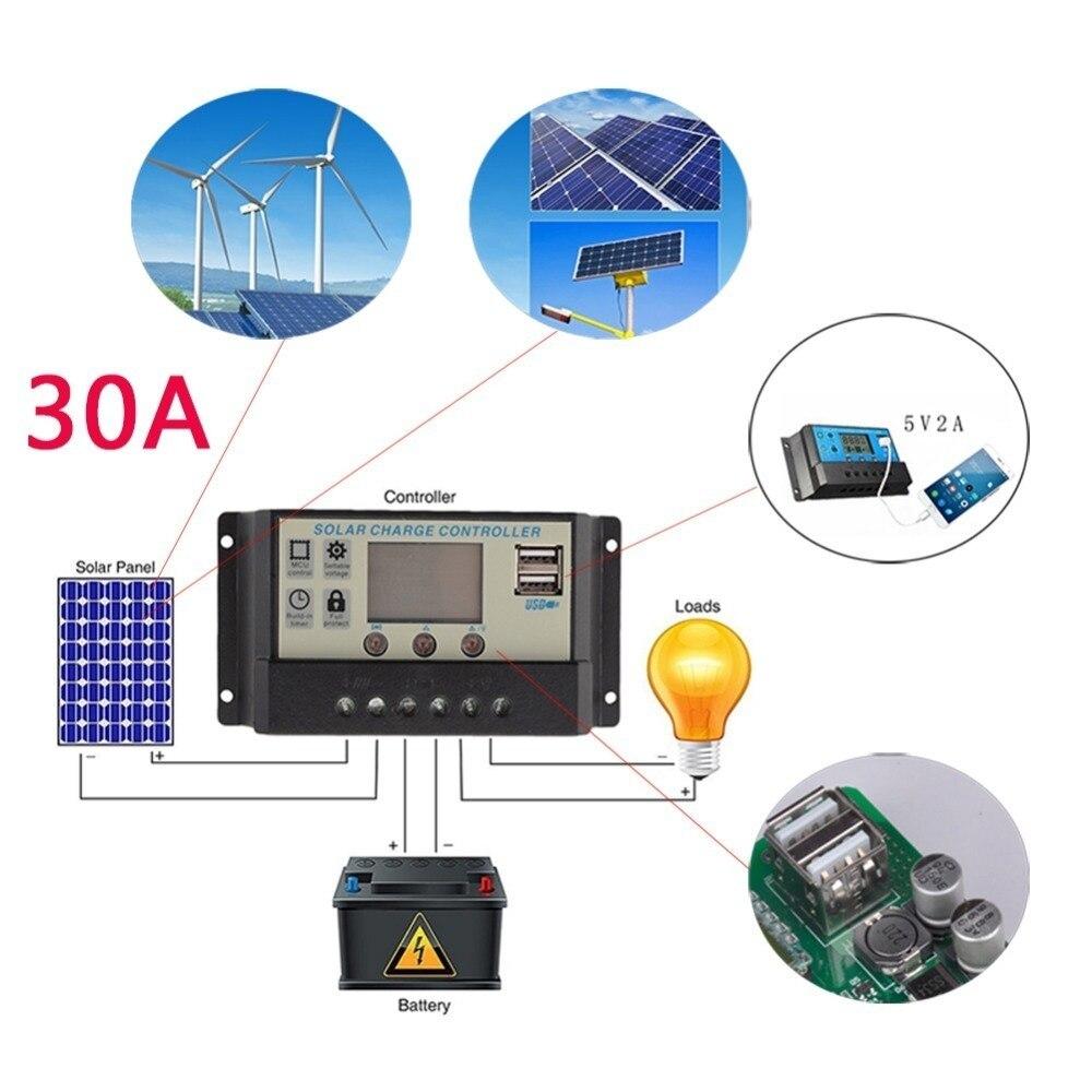 Caricatore Solare Regolatore Solare 5 2A Caricabatterie Del Telefono Cellulare Fotografiche Lampada Pannello caricatore