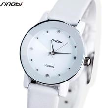 SINOBI Original Lover's Watch Water proof Sharp Leather Strap Japan Quartz Wrist Watch Shock Resistant Gift for Women L13