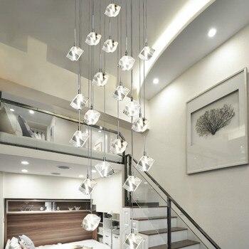 Benutzerdefinierte Kreative Kristall Picking Leere Wohnzimmer Tier Boden Treppenhaus Anhänger Leuchtet Einfache Duplex Gebäude Beleuchtung Wf4261513