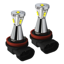 2pcs 45W Car LED for Camper Trailer Light Bulbs Car Fog Light Car Stying H8 H9 H10 H11 9005 9006 White Yellow green blue red