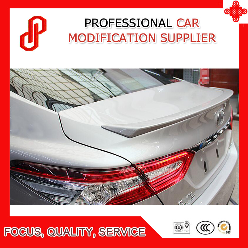 Hot sale ABS primer black white red ect color car rear trunk lip spoiler for Camry 2018 2019Hot sale ABS primer black white red ect color car rear trunk lip spoiler for Camry 2018 2019