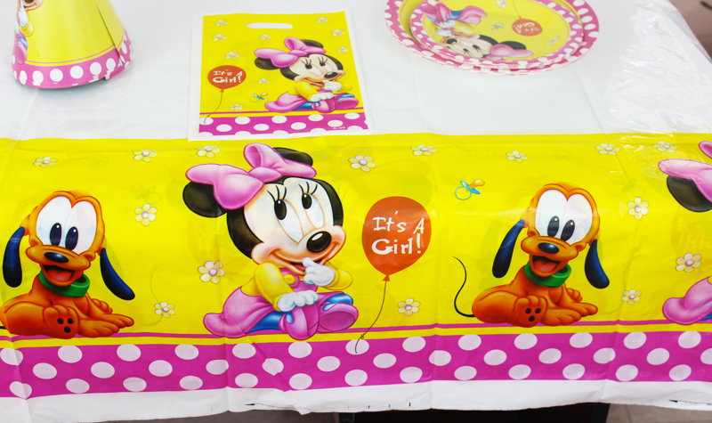 Birthday Party Decoration Kids Supplies Favors New Minnie Mouse Theme Plastic Table Cloth Size 220cm X 132cm