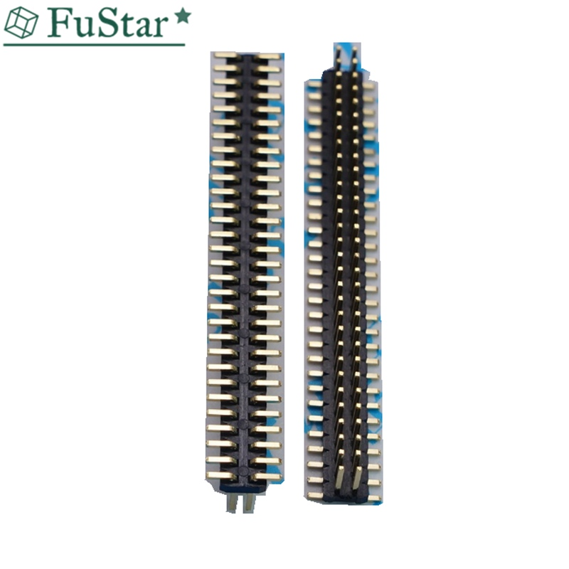 2x40 pins Double Row 2.54 <font><b>mm</b></font> Pitch SMD Needle Male Pin Header All Copper Gold Plated SMD 2*2 3 4 5 6 <font><b>7</b></font> 8 9 10 <font><b>12</b></font> 15 20 30 40 Pin image