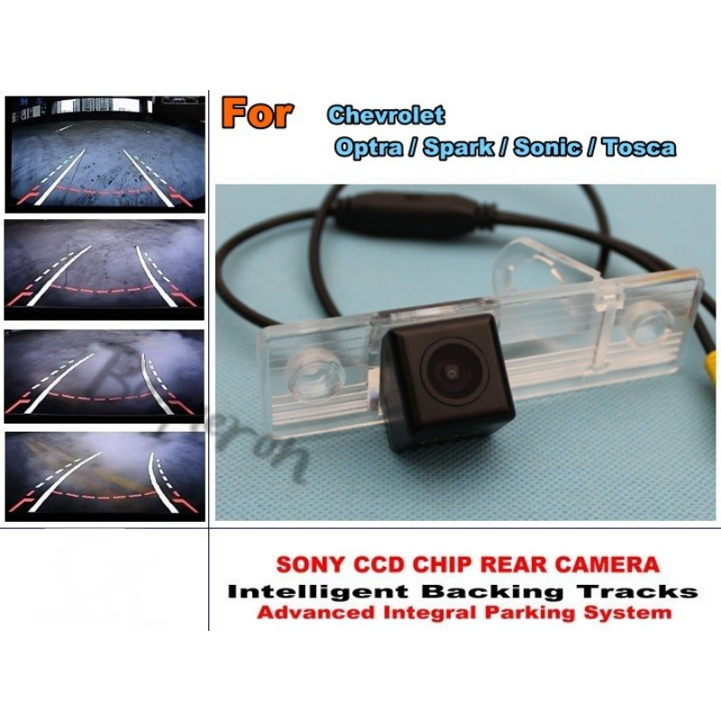 Car Intelligent Parking Tracks Camera / For Chevrolet Optra / Spark / Sonic / Tosca HD Back up Reverse Camera / Rear View Camera for dacia duster 2010 2014 car intelligent parking tracks camera hd back up reverse camera rear view camera
