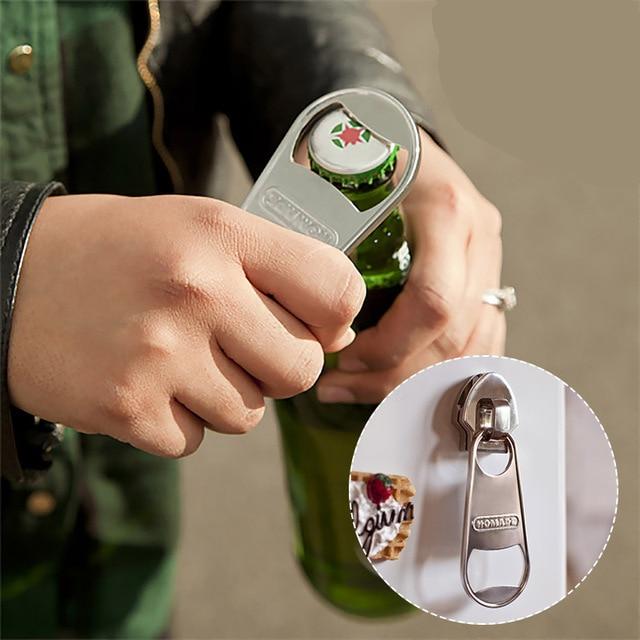 Decorative Bottle Openers Alluring 1 Pcs Creative Magnet Zipper Shaped Decorative Fridge Inspiration Design