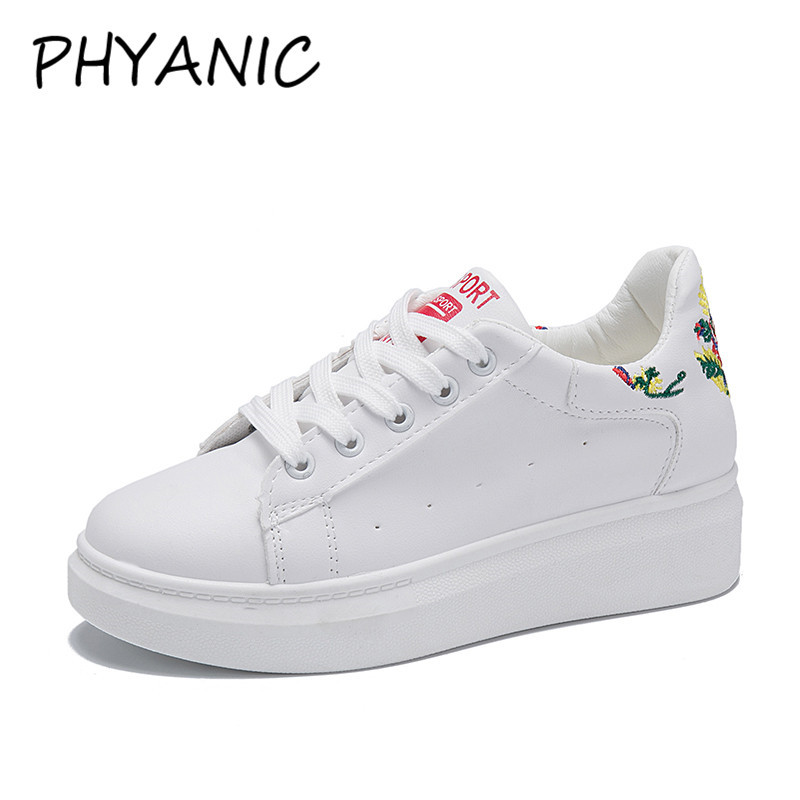 PHYANIC Fashion Vulcanize Shoes Women Sneakers Lace Up Round Toe Women Casual Shoes Height Increased Platform Shoes CAZ3261