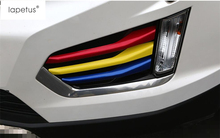 Colorful Style ! Accessories For Cadillac XT5 2016 2017 Front Fog Light Lamp Decoration Molding Cover Kit Trim 6 Piece / Set
