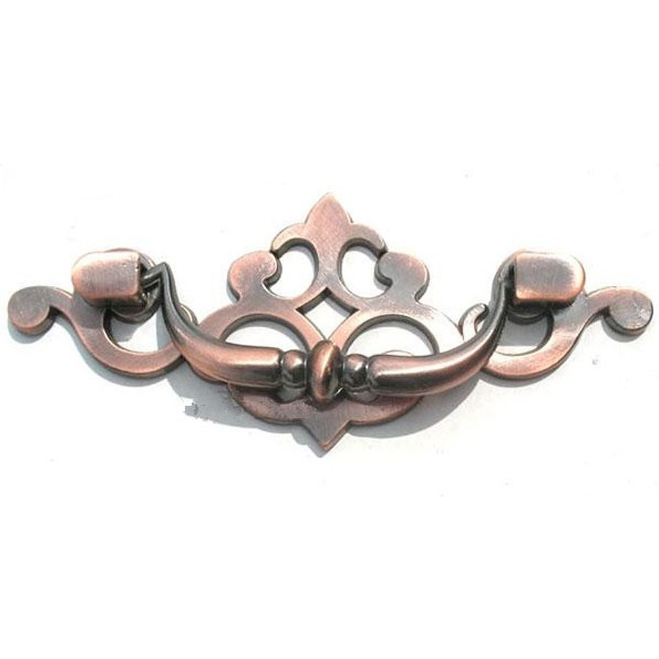 Cheap Kitchen Knobs And Pulls Grey Cabinets For Sale 2pcs 3.5 Inches Antique Red Ring Cute Drawer Handles ...