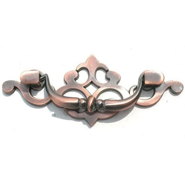 2pcs 3.5 Inches Antique Red Ring Cute Drawer Handles Cabinet Knobs Garden  Kitchen Pulls Cheap Cupboard