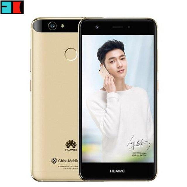 """Оригинальный Huawei NOVA сотовый телефон 4 г LTE 3 ГБ/4 ГБ оперативной памяти 32 ГБ/64 ГБ ROM MSM8953 Octa Core 5.0 """"FHD 1920x1080 P Dual SIM отпечатков пальцев"""