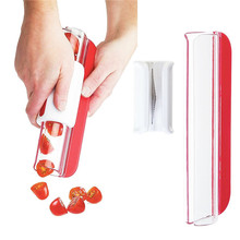Slicer For Cherry Tomatoes, Grape, Strawberry etc. - Fast and Easy Large Amount of Salad цена