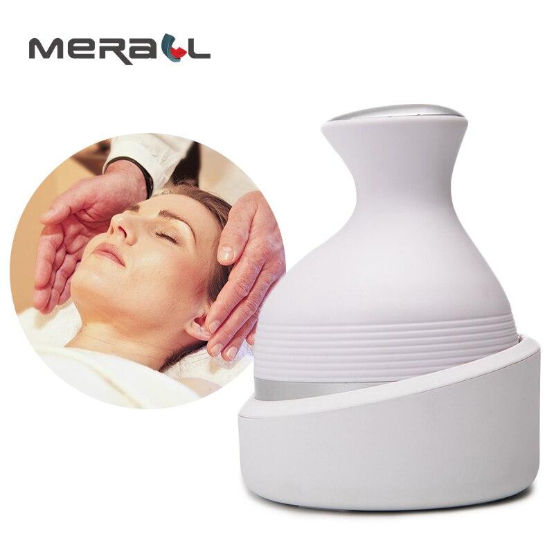 Electric Head Massager Hand Held Shiastu Pneumatic Vibration 4 Heads Scalp Massage Device Relaxing Relieve Fatigue Rechargeable