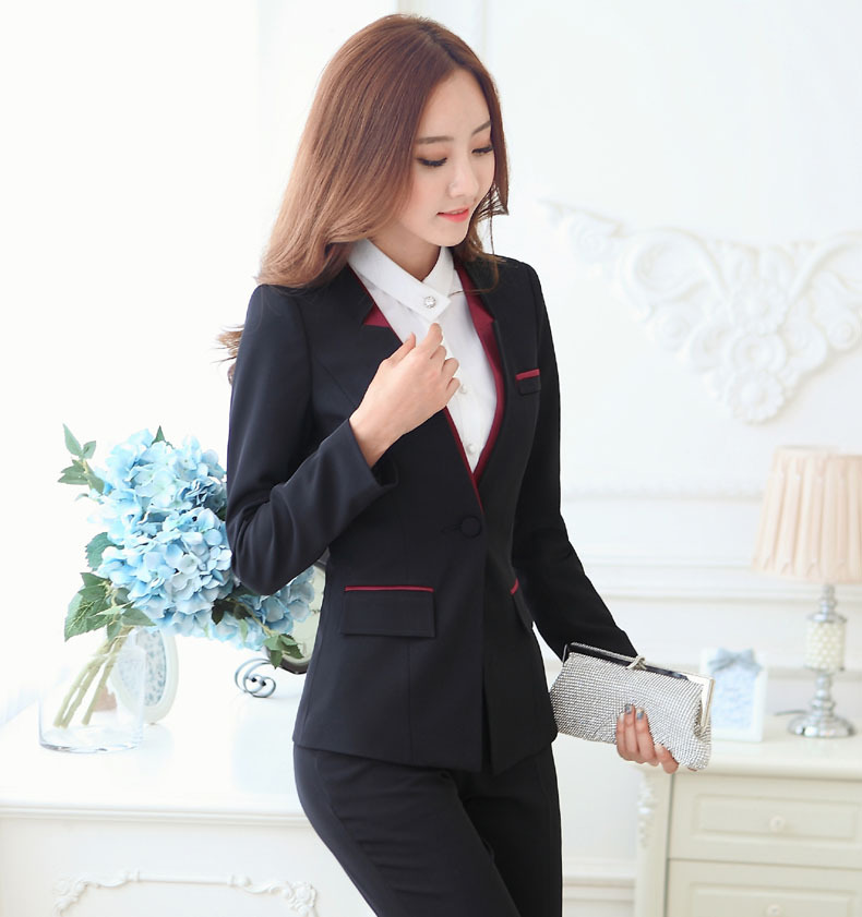New Elegant Grey 2015 Autumn Winter Business Women Suits Jackets And ... 555862703fa7