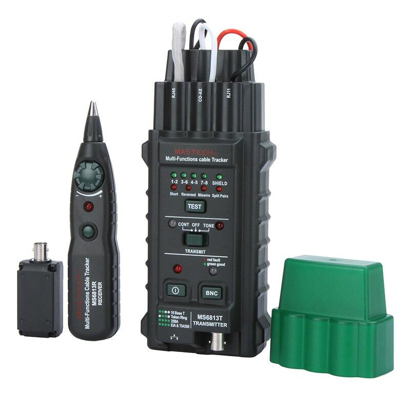 Testeur de câble réseau fil détecteur de ligne téléphonique Tracker BNC RJ45 RJ11 1Cat5 Cat6 LAN testeur de câble multifonctionnel portable